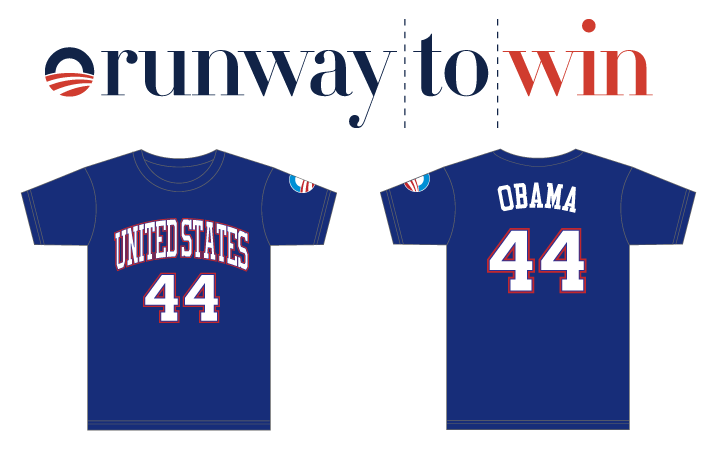 Runway to Win Obama 44 shirts
