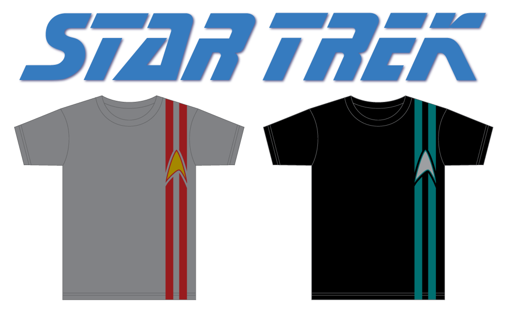 Star Trek racing stripes T-shirt
