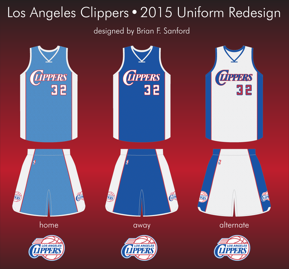 Redesign the LA Clippers Uniwatch
