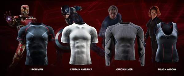 Avengers Under Armour base layer