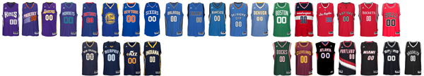 NBA jersey color spectrum