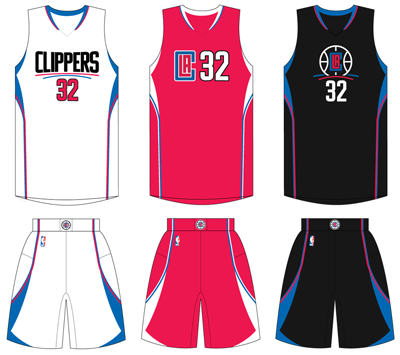 Los Angeles Clippers current uniforms