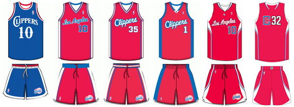 Los Angeles Clippers uniform history