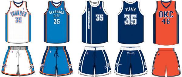 Oklahoma City Thunder current uniforms