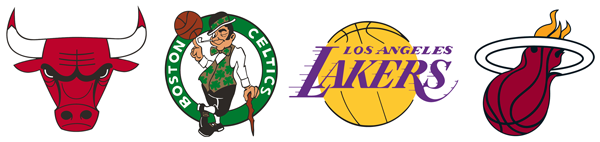 Outdated NBA logos