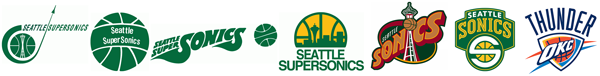 Seattle Super Sonics Oklahoma City Thunder logo history