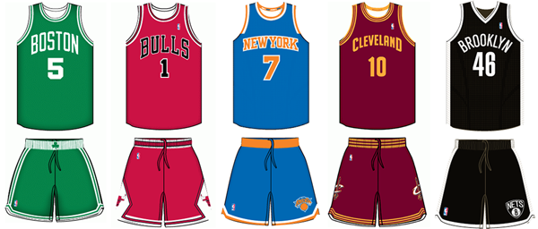 Traditional NBA Uniforms