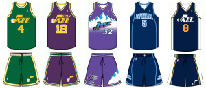 Utah Jazz uniform history