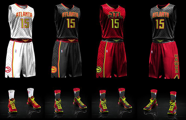 Atlanta Hawks current uniforms
