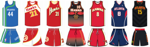 Atlanta Hawks uniform history