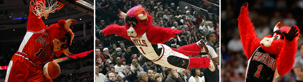 Benny the Bull new Chicago Bulls uniforms