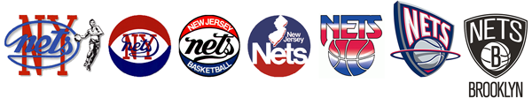 New York Americans New Jersey Brooklyn Nets logo history