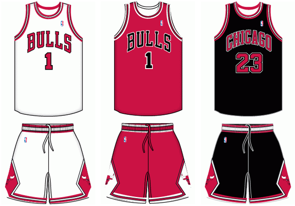 Chicago Bulls current uniforms