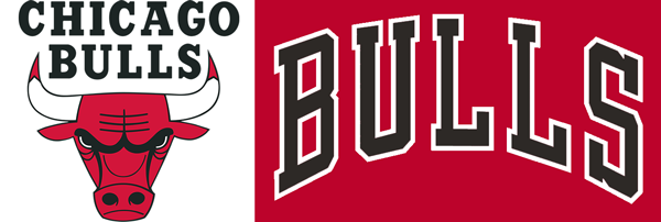 Chicago Bulls wordmarks comparison