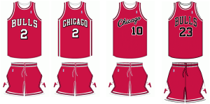 Chicago Bulls uniform history