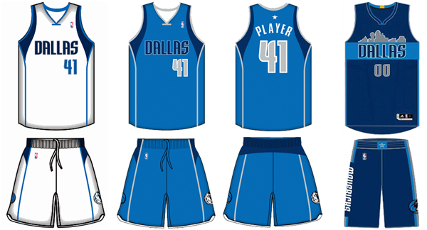 Dallas Mavericks current uniforms