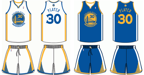 Golden State Warriors current uniforms