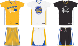 Golden State Warriors sleeved uniforms