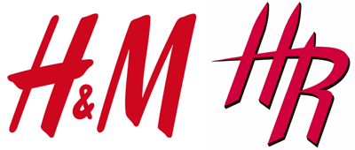 H&M logo vs Houston Rockets secondary logo