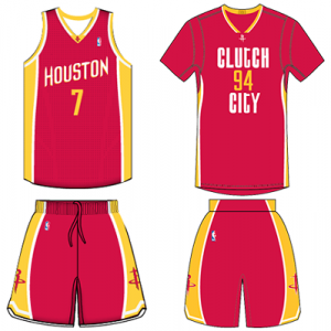 Houston Rockets red alternate uniform comparison