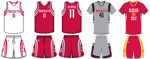 Houston Rockets current uniforms