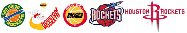 San Diego Rockets Houston Rockets logo history