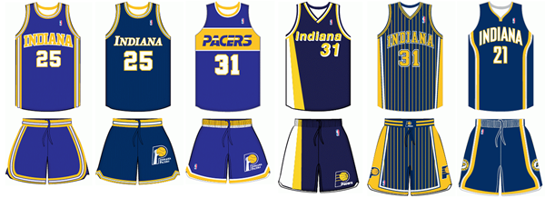 Indiana Pacers uniform history