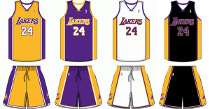 Los Angeles Lakers current uniforms