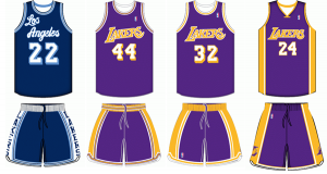 Los Angeles Lakers uniform history