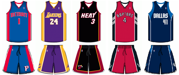 Nike wishbone collar NBA jersey uniform comparison