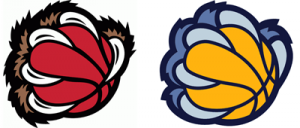 Memphis Grizzlies claw logos comparison