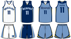 Memphis Grizzlies current uniforms