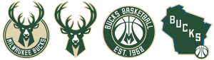 Milwaukee Bucks current logos