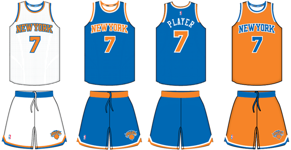 New York Knicks current uniforms