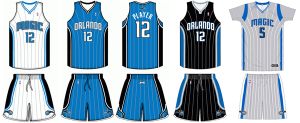 Orlando Magic current uniforms