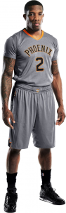 Phoenix Suns gray alternate uniform