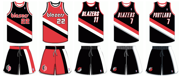 Portland Trail Blazers uniform history