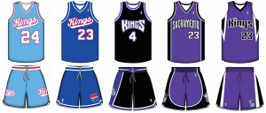 Sacramento Kings uniform history