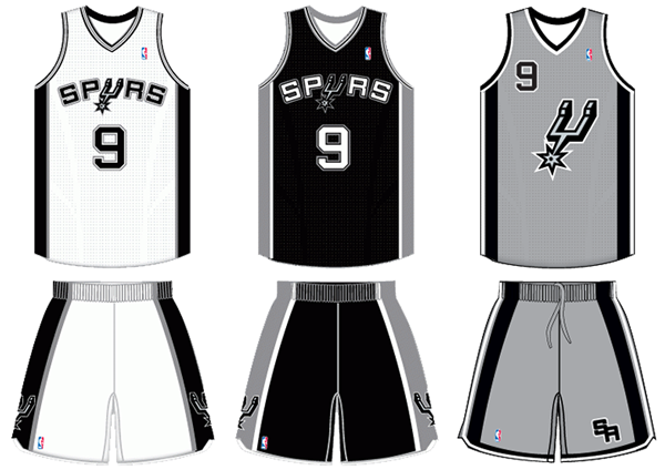 San Antonio Spurs current uniforms