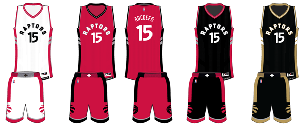 Toronto Raptors current uniforms