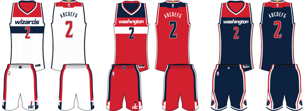 Washington Wizards current uniforms