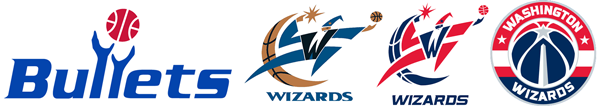 Washington Bullets Wizards logo history