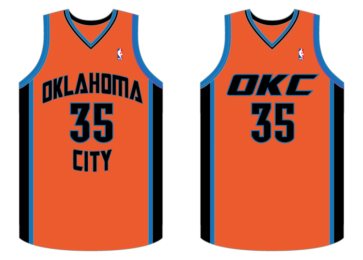 655d7ee28 Oklahoma City Thunder orange jerseys