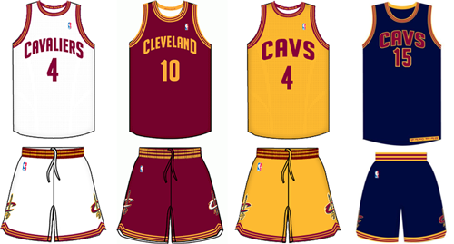 155dcc8876b Cleveland Cavaliers current uniforms