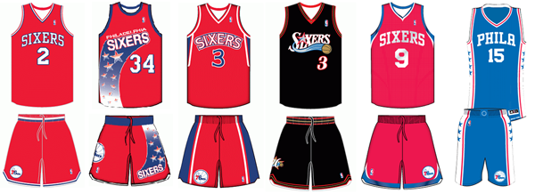 c50be9e37e4 Philadelphia 76ers uniform history