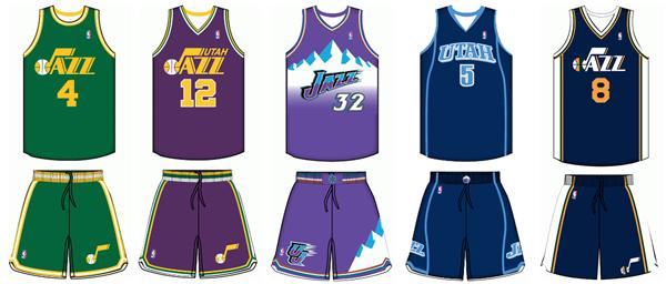 adf34553 Utah Jazz uniform history