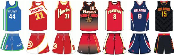 57591822d62 Atlanta Hawks uniform history