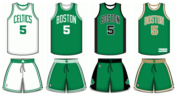 738d5718601 Boston Celtics current uniforms