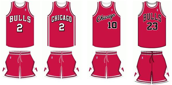 1d77f7d1c23610 Chicago Bulls uniform history