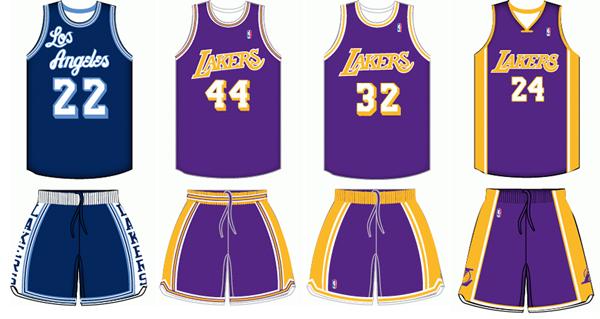 18870de2965 Los Angeles Lakers uniform history